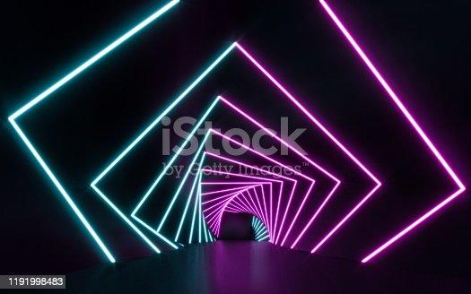 1043738824 istock photo Blue and purple neon 1191998483