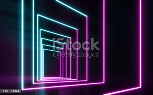 1043738824 istock photo Blue and purple neon 1191998606