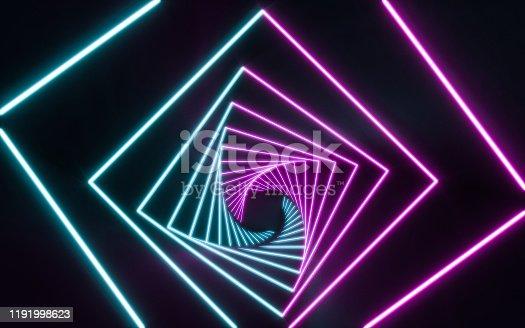 1043738824 istock photo Blue and purple neon 1191998623