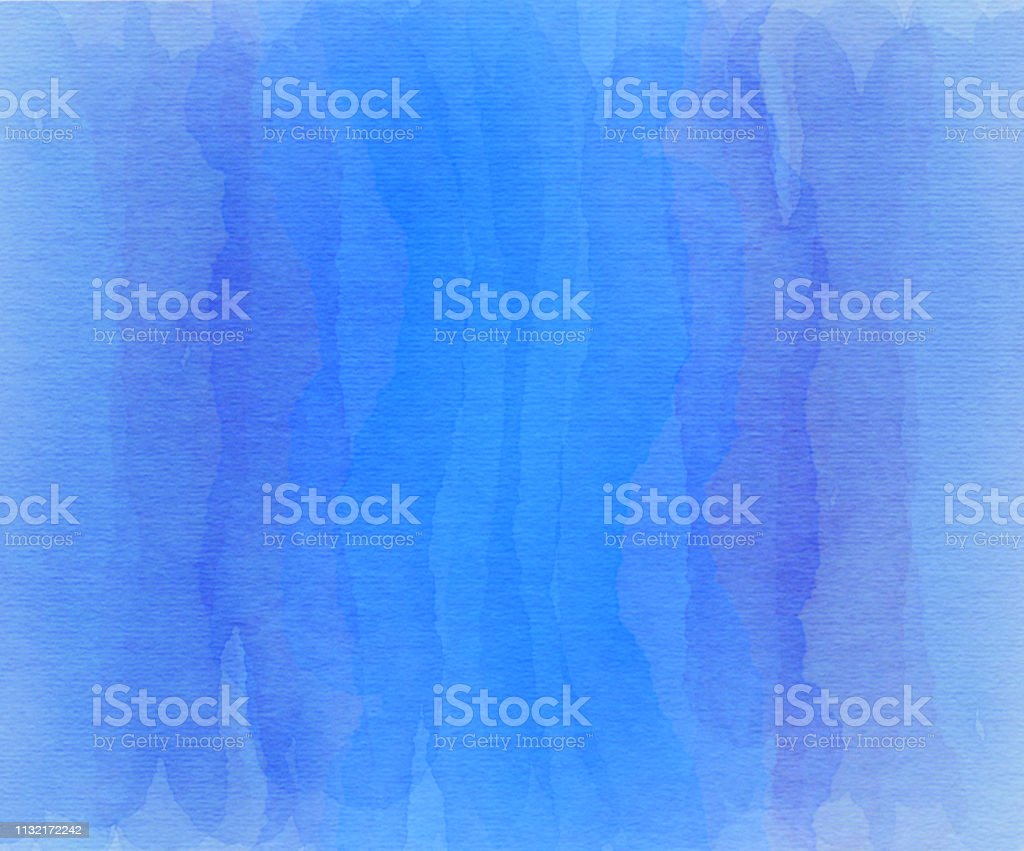 Blue and purple overlapping watercolor stripes stock photo