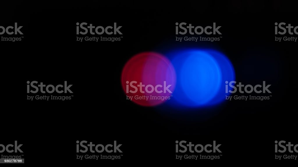 blue and red bokeh light stock photo