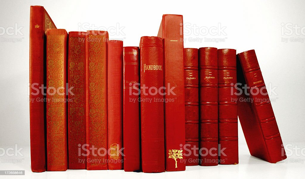 Blue and Red Book Series #2 royalty-free stock photo