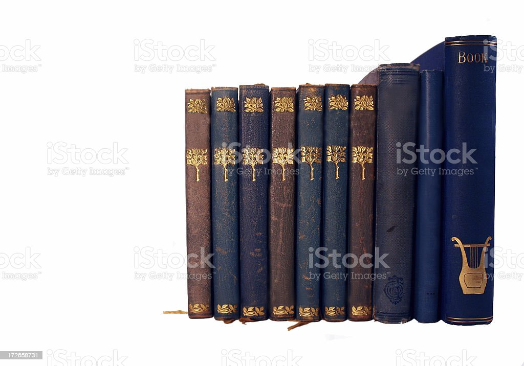 Blue and Red book series #3 royalty-free stock photo