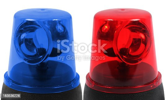 174913699 istock photo Blue and red emergency lights 183536226
