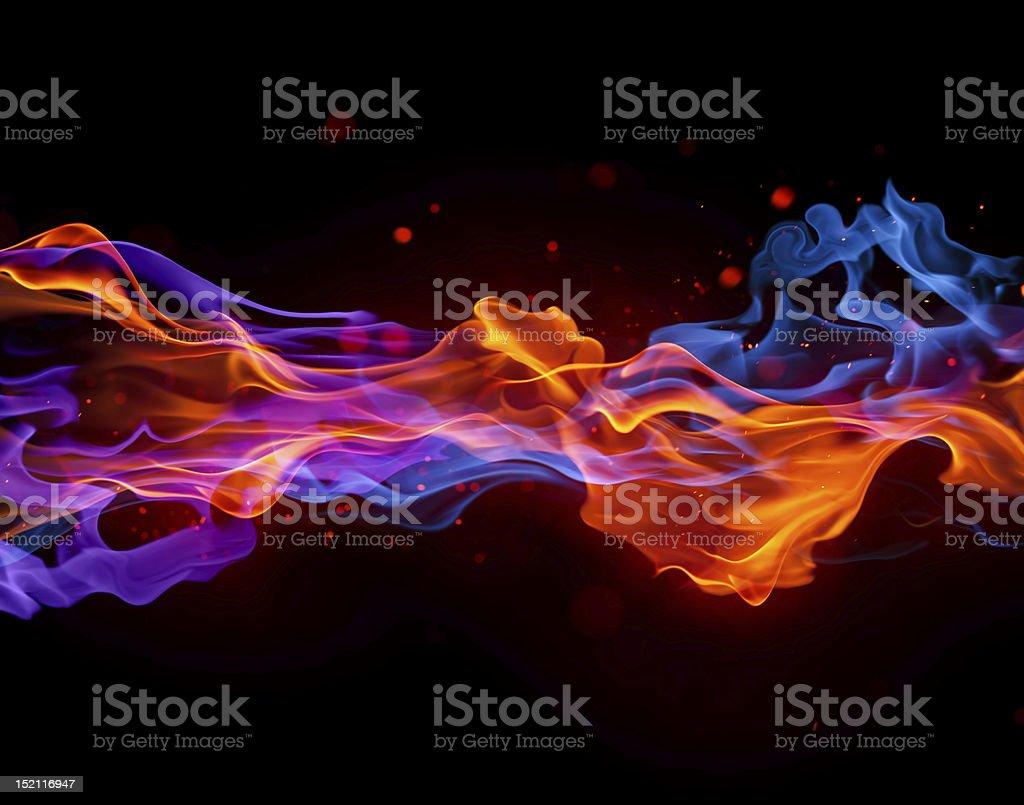 Blaue und rote Feuer – Foto