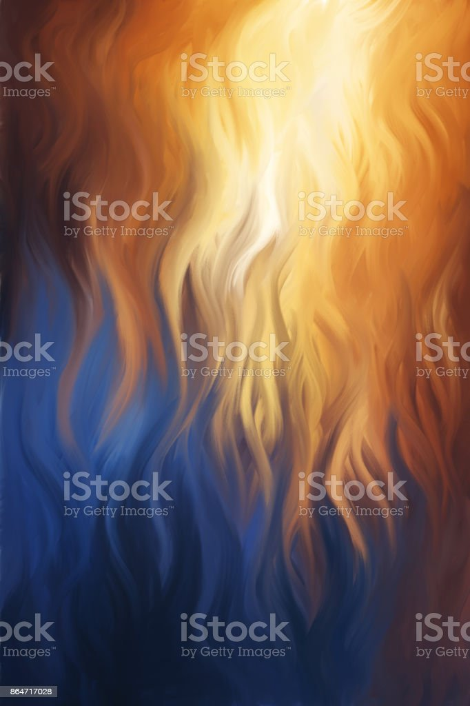 Blue and Red Flames Painting stock photo