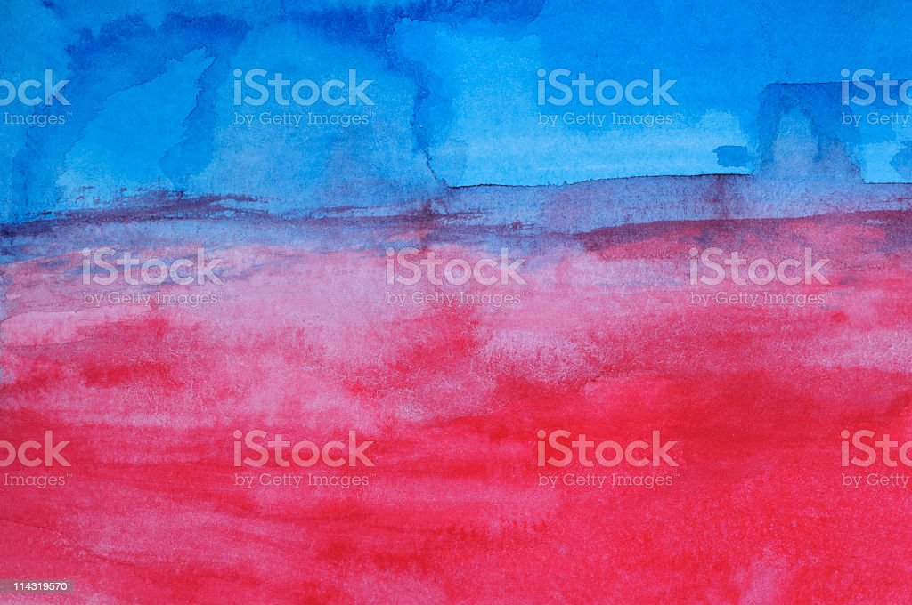 Blue and Red Grunge royalty-free stock photo