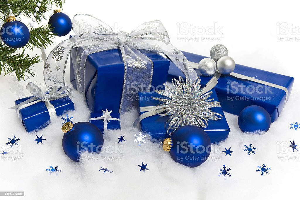 Blue and Silver royalty-free stock photo