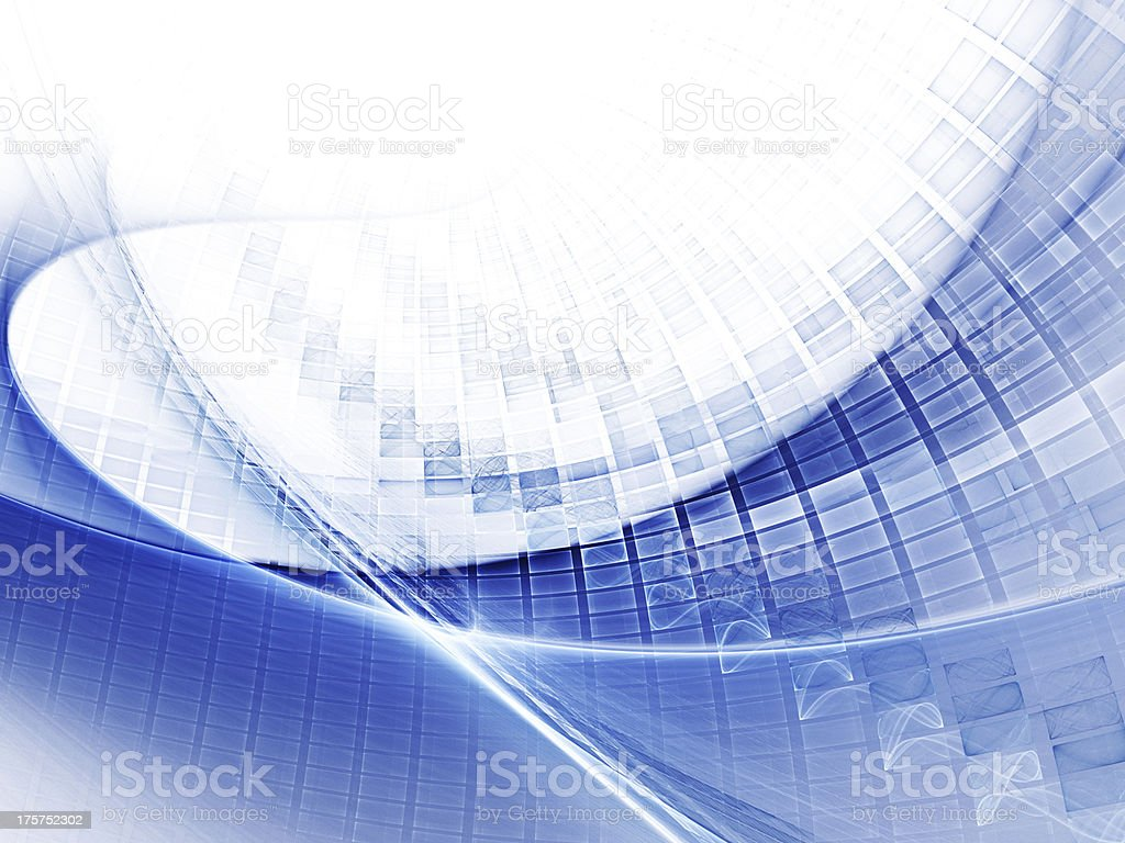 Blue and white abstract background royalty-free stock photo