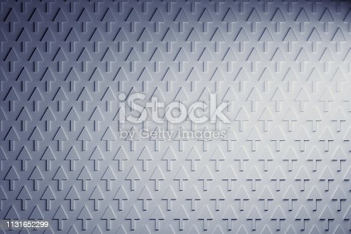 istock Blue and white arrows pointing up 1131652299