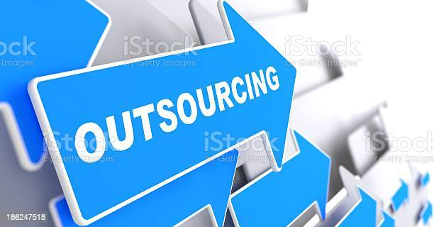Blue and white arrows that say outsourcing picture id186247518?b=1&k=6&m=186247518&s=612x612&h=d7kial1yqfzzuldiwowl57vmr7tdpypu77gbztcekty=