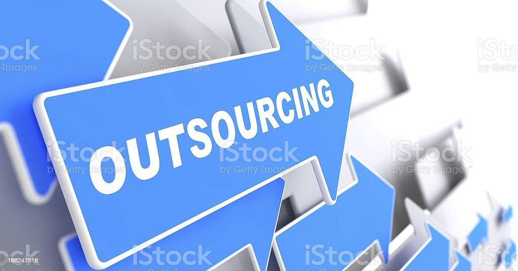 Outsourcing. Business Hintergrund. – Foto