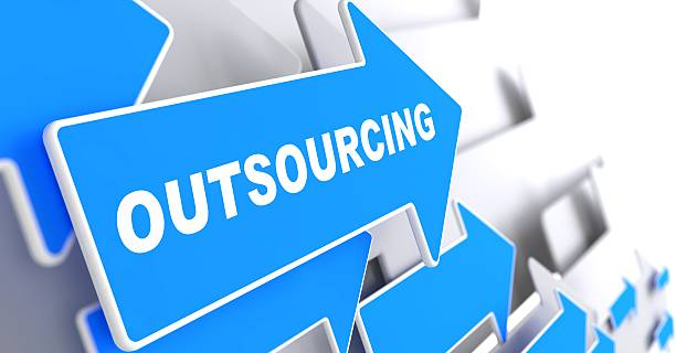 Outsourcing. Business Hintergrund. – Foto