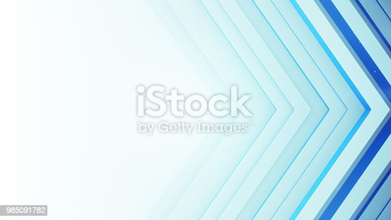 istock Blue and white background with rhombic 3D lines 985091782
