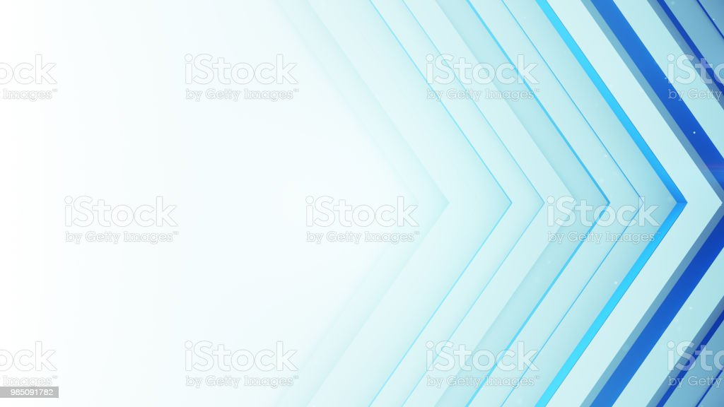 Blue and white background with rhombic 3D lines stock photo