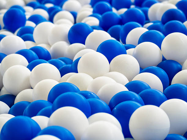 blue and white balls - cue ball stock pictures, royalty-free photos & images