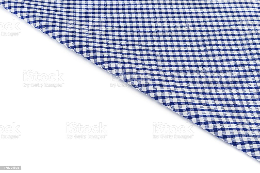 Blue and white checked cloth royalty-free stock photo