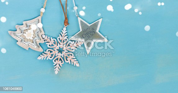 istock Blue and white christmas 1061045900