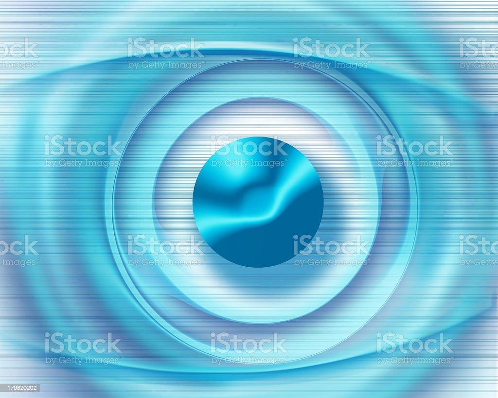 Blue and white digital eye icon stock photo