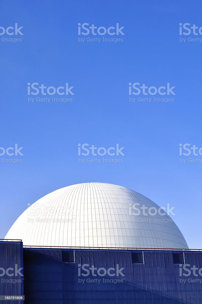 Blue and white dome stock photo