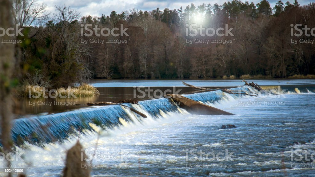 Blue and White Flow stock photo