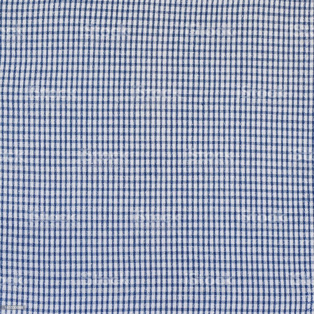 Blue and White Gingham Fabric Background stock photo