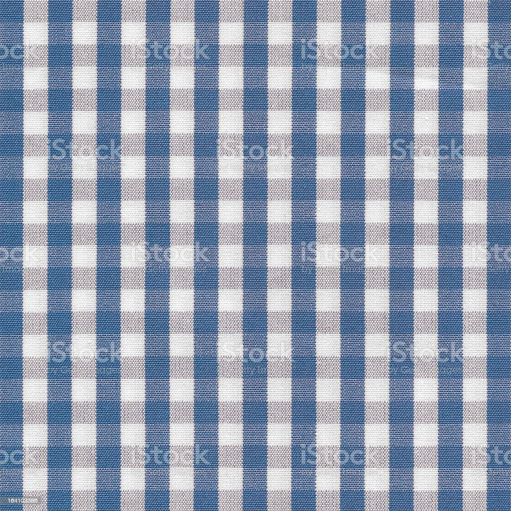 Blue and White Gingham Tablecloth Pattern stock photo