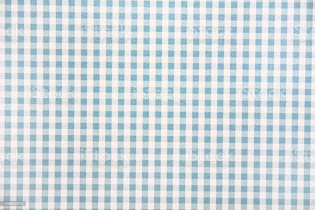 Blue and White Gingham Wallpaper stock photo