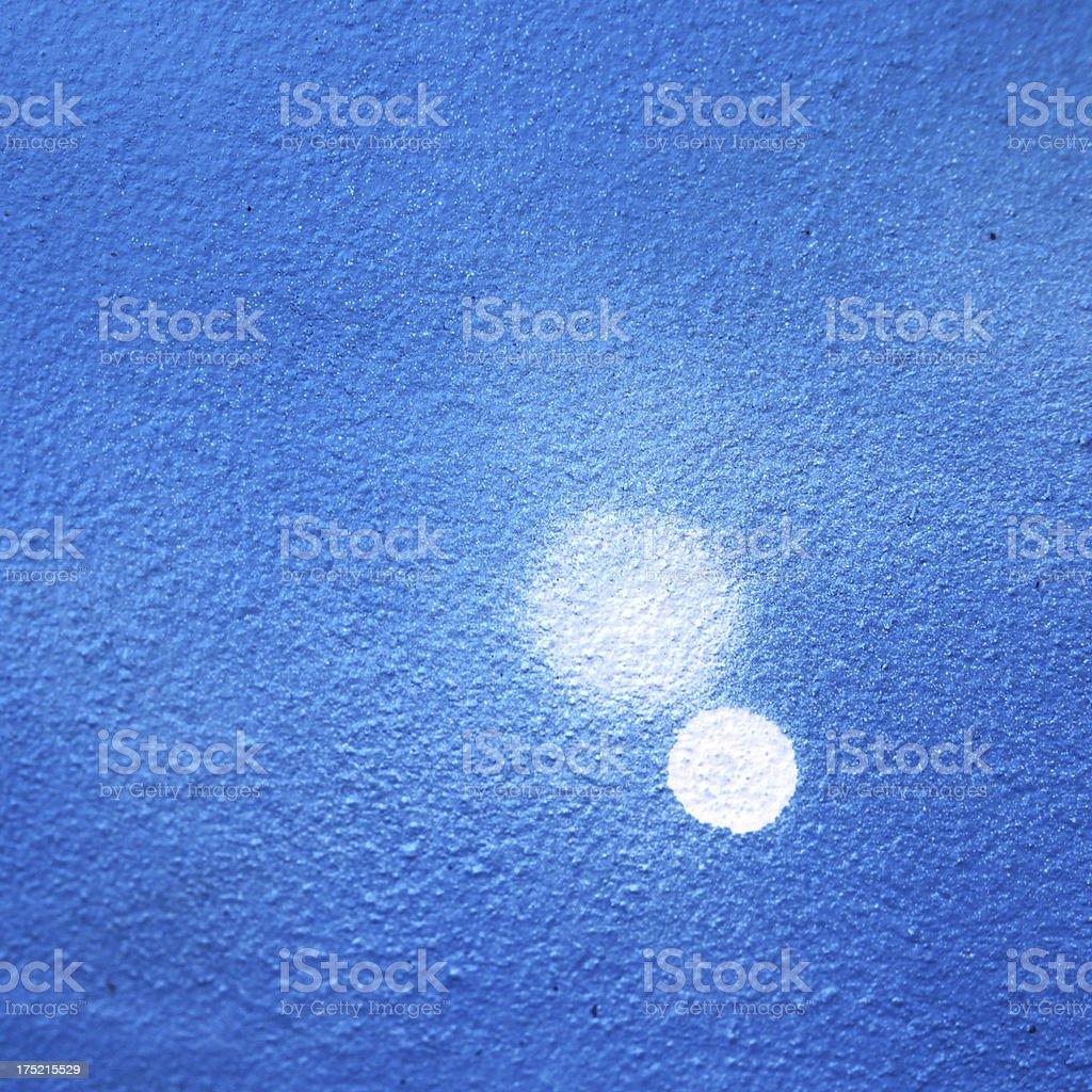 Blue and white graffiti square royalty-free stock photo