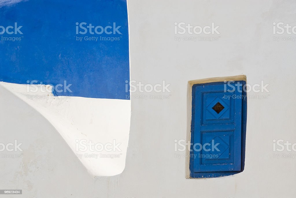 Blue and white Greece royalty-free stock photo