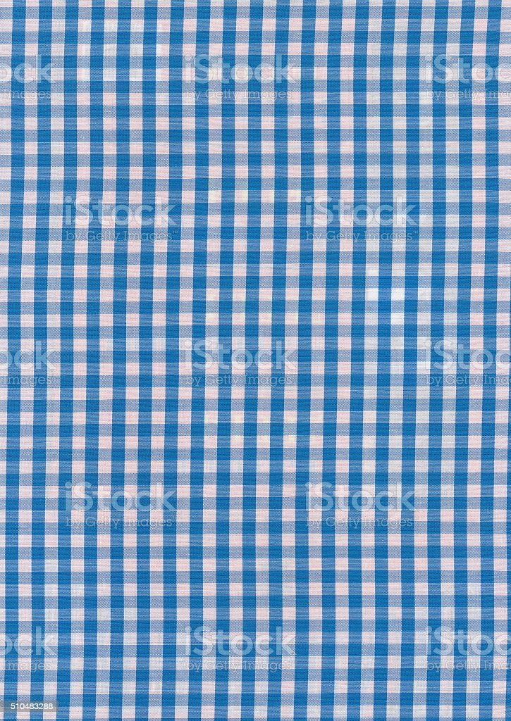 Blue And White Kitchen Towel Texture. Royalty Free Stock Photo