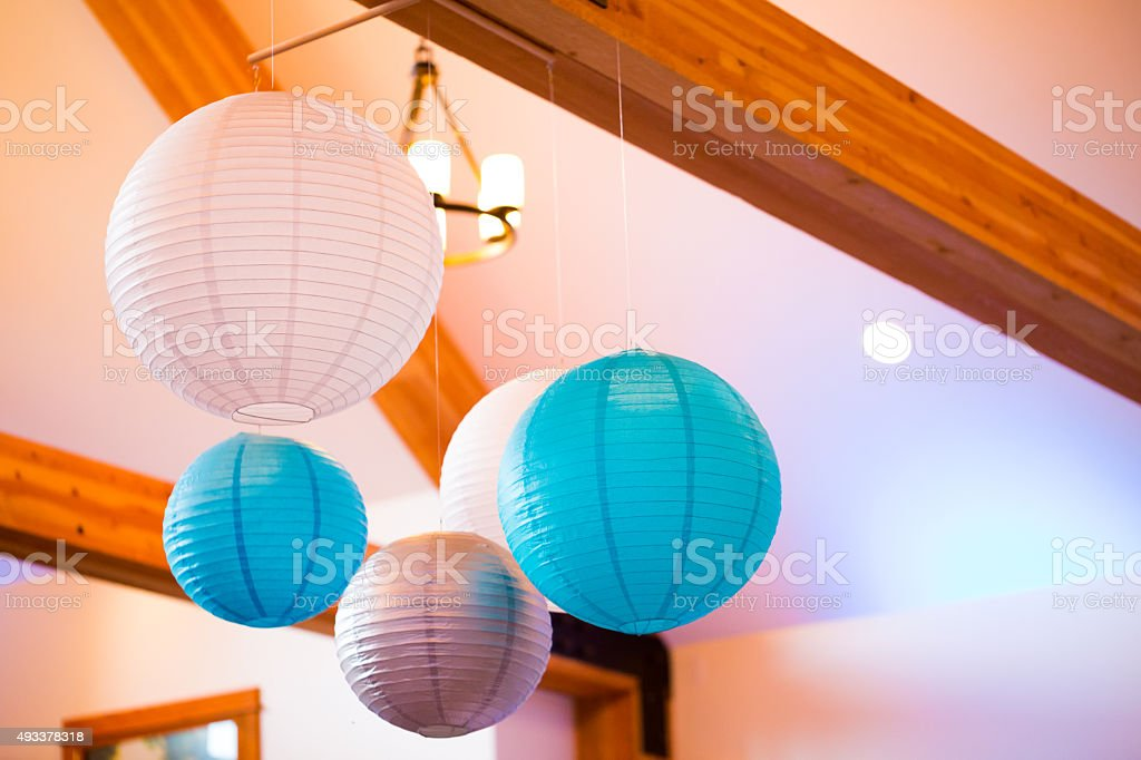 Blue And White Paper Lanterns Stock Photo Download Image Now Istock