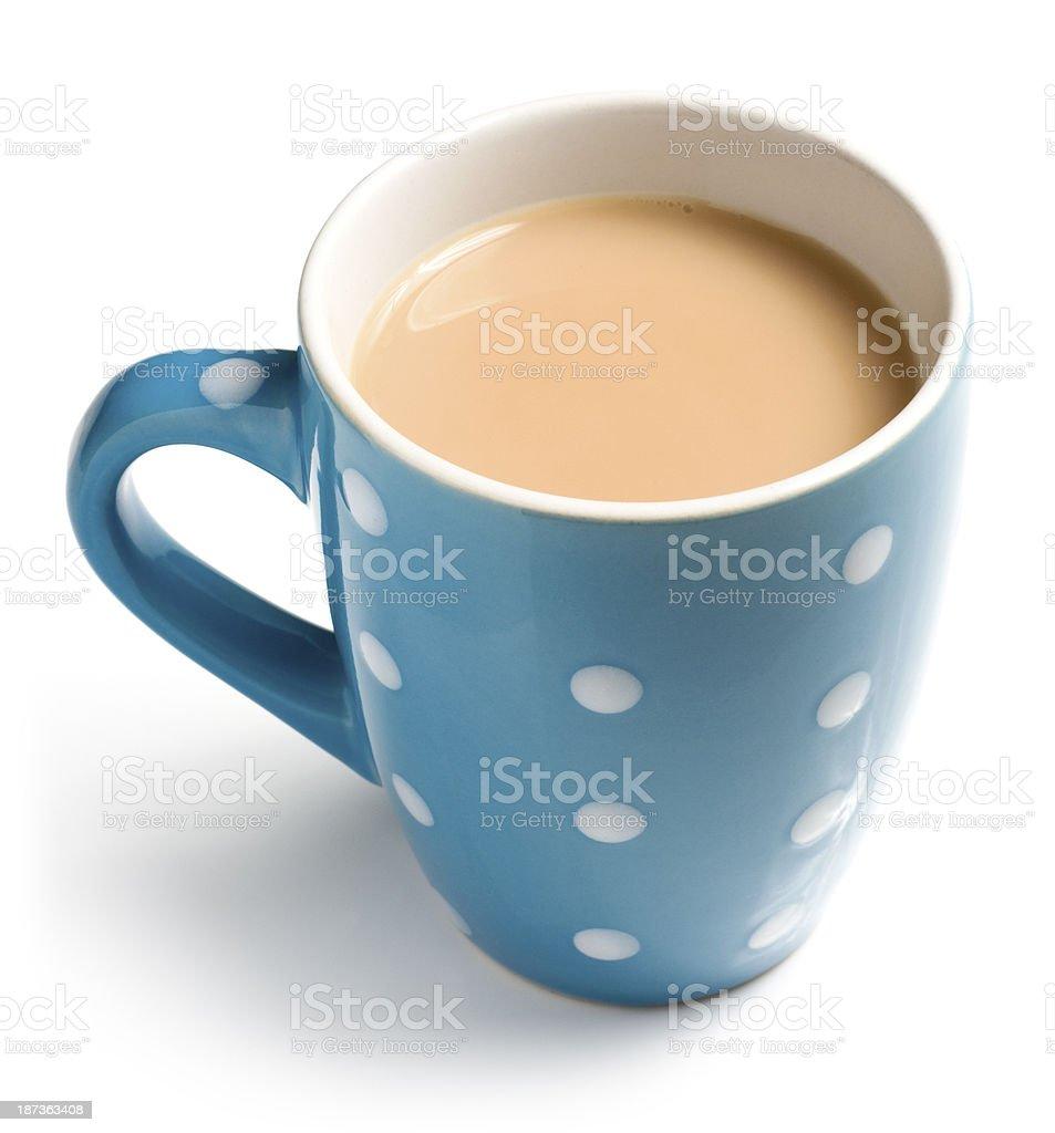 Desayuno inglés con una taza de té en un fondo blanco - foto de stock