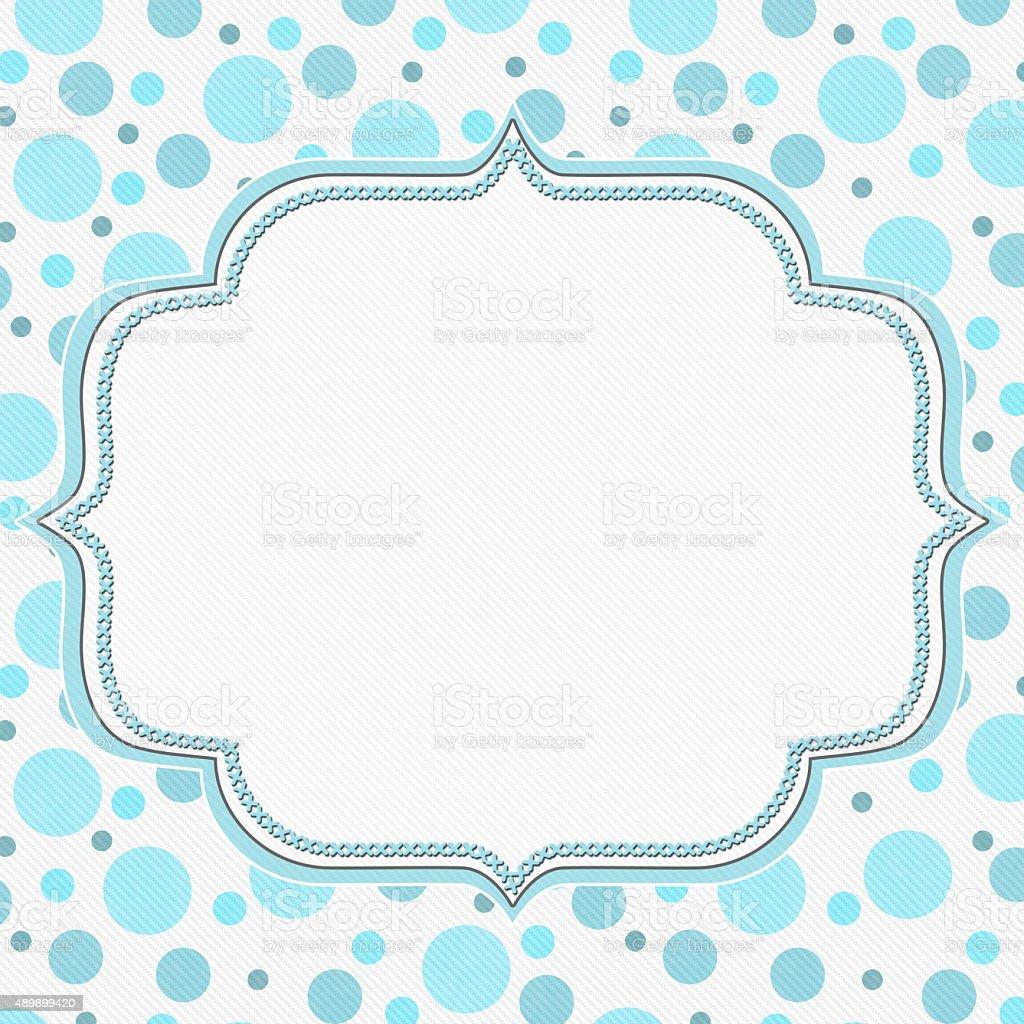 Blue And White Polka Dot Frame Background Stock Photo & More ...