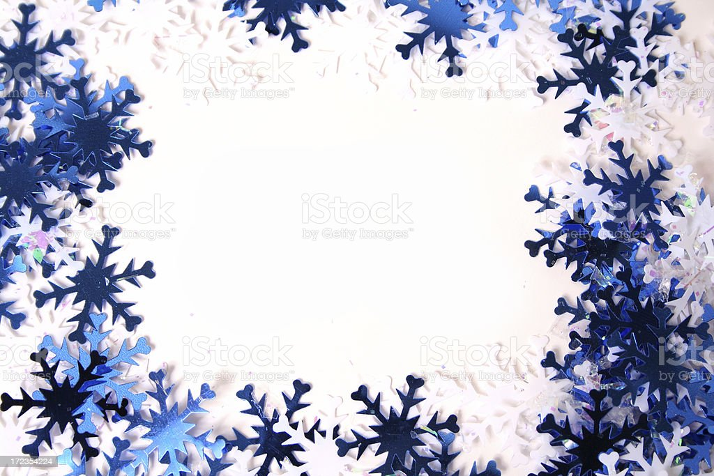Blue and White Snowflakes royalty-free stock photo