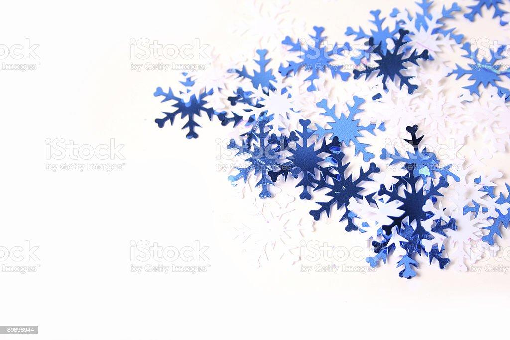 Blue and White Snowflakes royalty-free stock photo