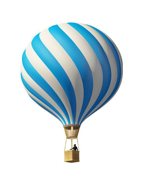 Blue hot Heißluftballon – Foto