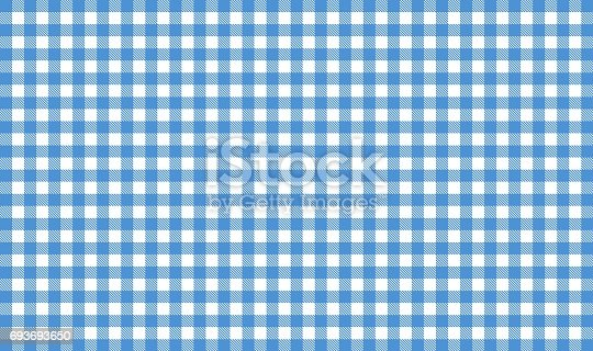 Tablecloth background - Checkered blue and white