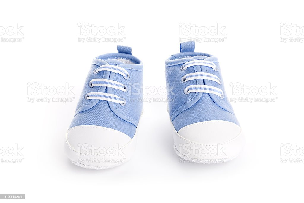 Blue and white toddler  shoes royalty-free stock photo
