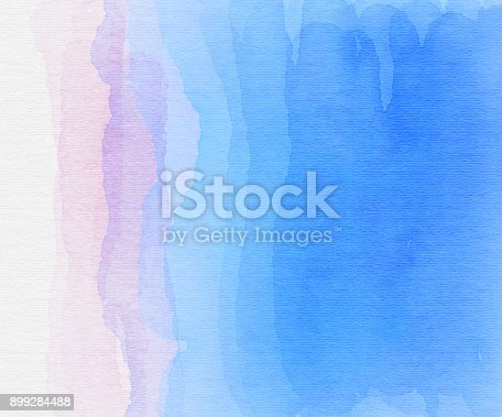istock Blue and white watercolor waves 899284488