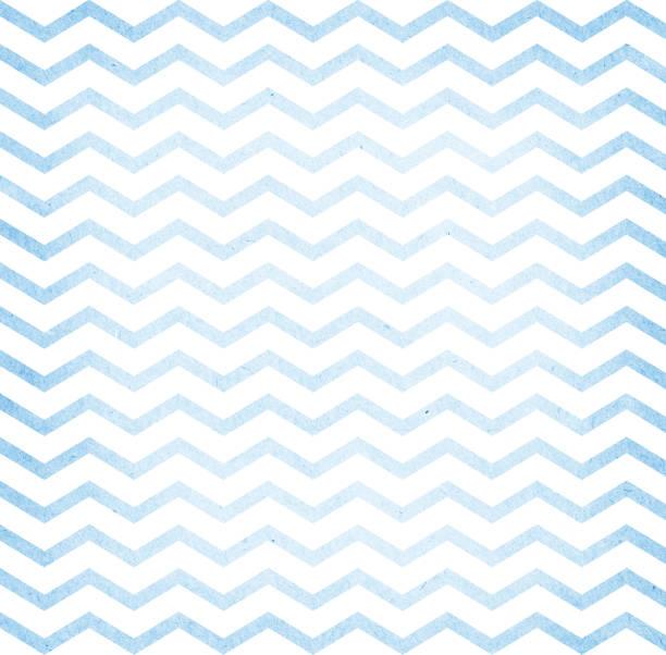 Blue and white zigzag stock photo