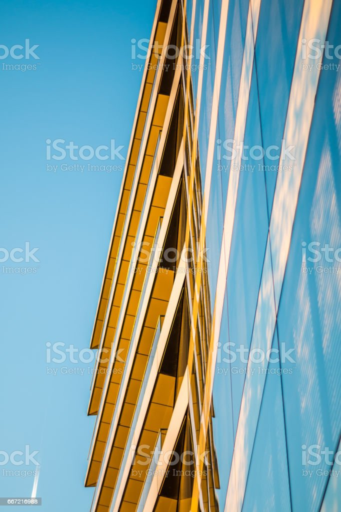 Blue and Yellow architecture royalty-free stock photo