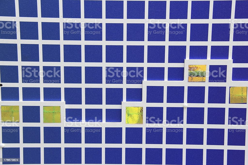 Blue and Yellow Background royalty-free stock photo
