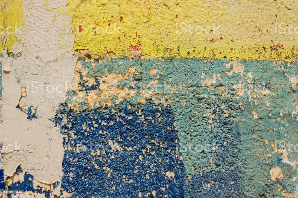 Photo Libre De Droit De Tracés De Peinture Bleue Et Jaune