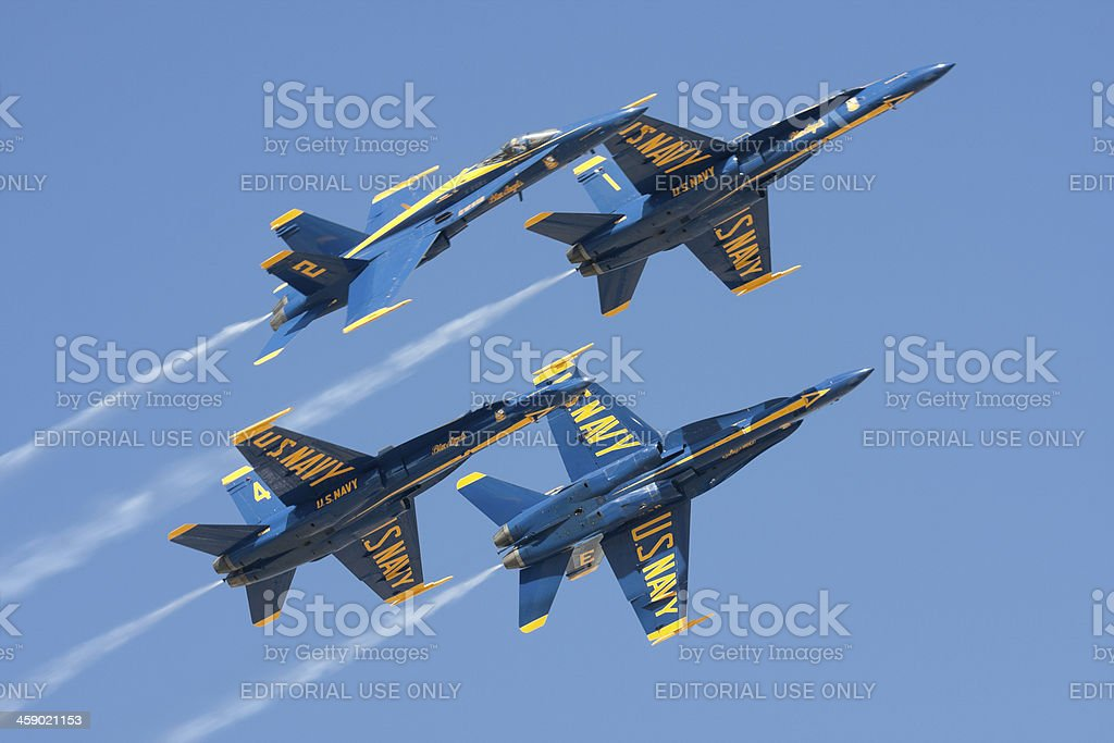 Blue Angels Breaking Apart royalty-free stock photo