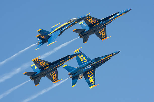 Blue Angels Breaking Apart stock photo