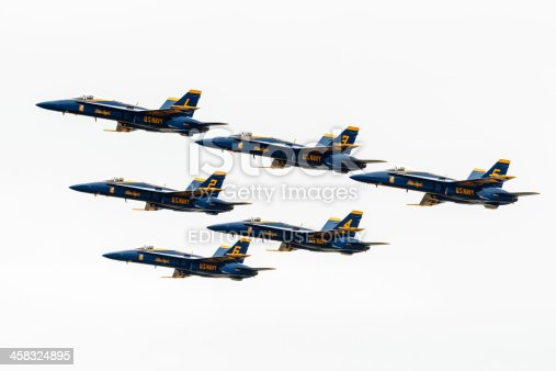 istock Blue Angels Flying In Formation 458324895