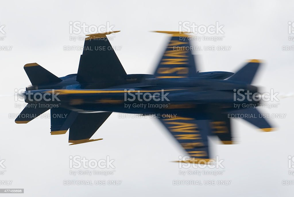 Blue Angels Knife-Edge Pass stock photo