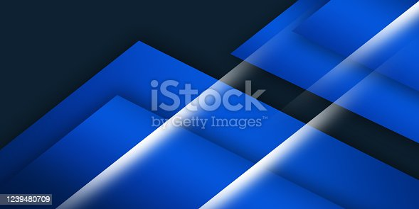 1126531335 istock photo Blue angle arrow overlap background on space for text and message artwork design 1239480709