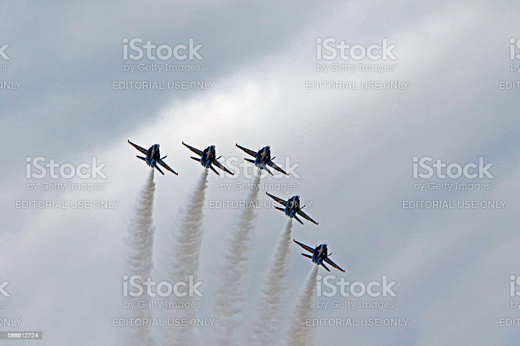 Blue Angles approach stock photo